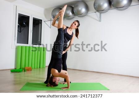 yoga instructor - stock photo