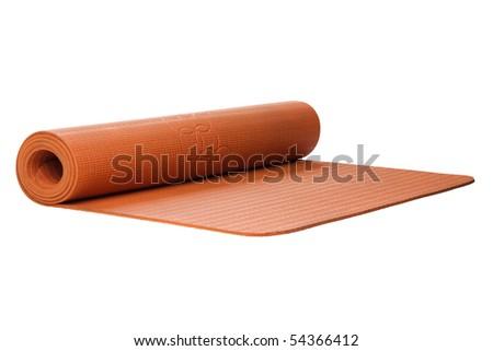 yoga mat cutout on white - stock photo