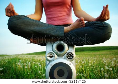 Yoga music - stock photo
