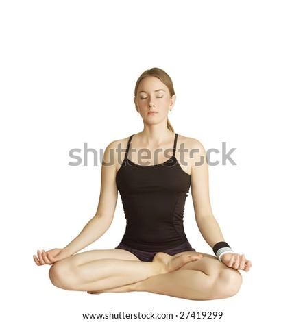 Yoga pose - stock photo