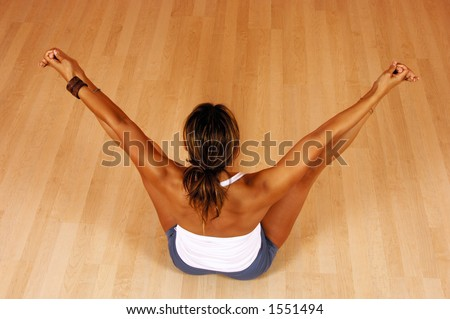 yin yoga stock photos images  pictures  shutterstock