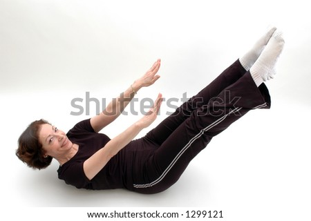 yoga position - stock photo