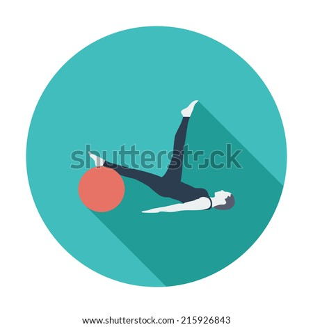 Yoga. Single flat color icon.  - stock photo
