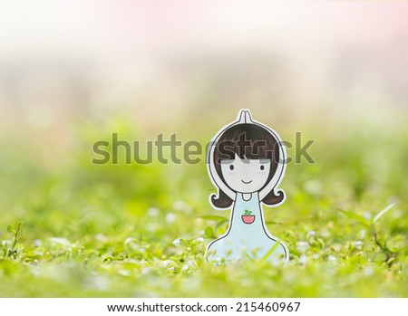 Yoga woman in the morning. - stock photo