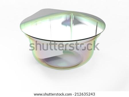 yogurt container - stock photo
