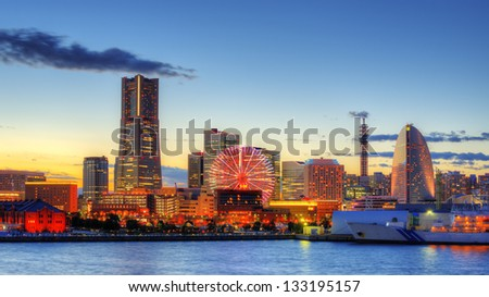 Yokohama, Japan skyline - stock photo