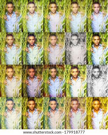 Yong Man. Instagram Filter Effects: Normal, Amaro, Mayfair, Rise, Hudson, Valencia, X-Pro II, Sierra, Willow, Lo-Fi, Earlybird, Sutro, Toaster, Brannan, Inkwell, Walden, Hefe, Nashville, 1977, Kelvin - stock photo