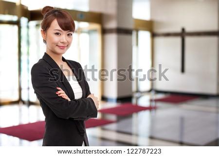Yong pretty Asian business woman - stock photo