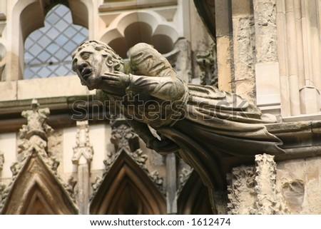 York Minster sculpture - stock photo