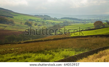 Yorkshire dales, national park in the UK, aumumn - stock photo