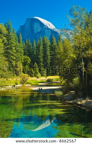 Yosemite's half-dome - stock photo