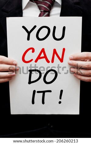 You can do it !  - stock photo