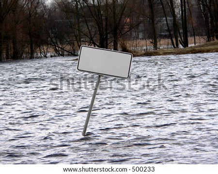 You can write text on sign. Escape, to drown, SOS, for sale, need help? - stock photo