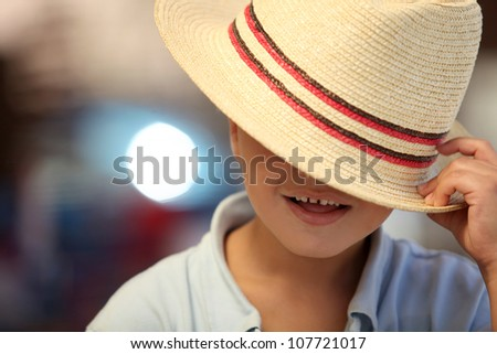 You cannot see my face - stock photo