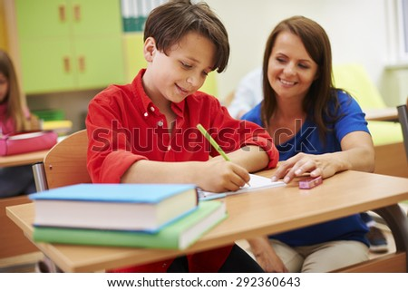 You learn very quickly, I am glad - stock photo