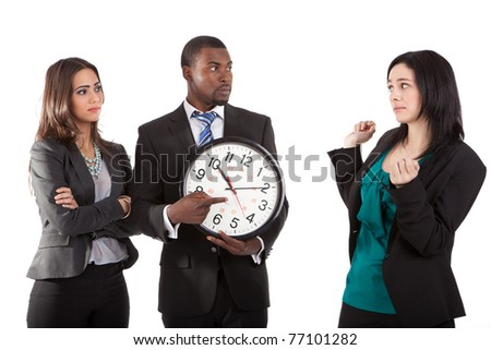 You`re late business concept - stock photo