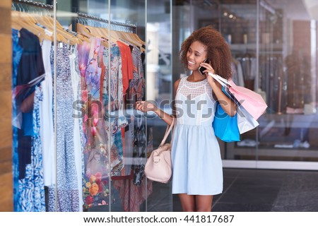 You should see the sales on at the mall - stock photo