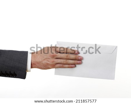 You've got mail Metallic mailbox on white background - stock photo