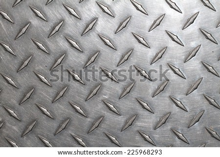 You walk on a steel background texture. - stock photo