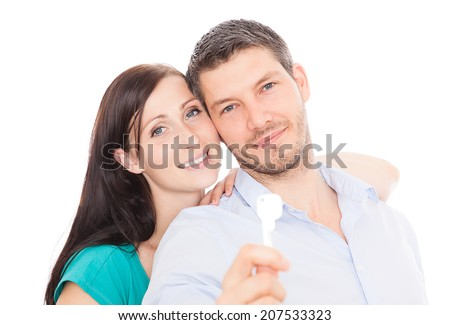 youger adult going for first apartment - stock photo