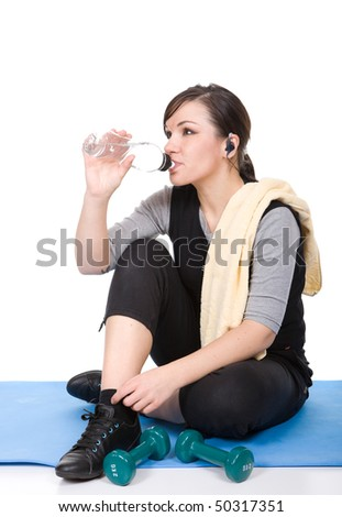 young adult woman in good shape - stock photo
