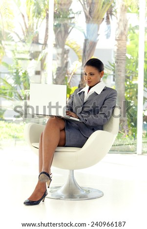 Young Afro American businesswoman - stock photo