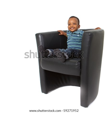 Young afro american family - stock photo