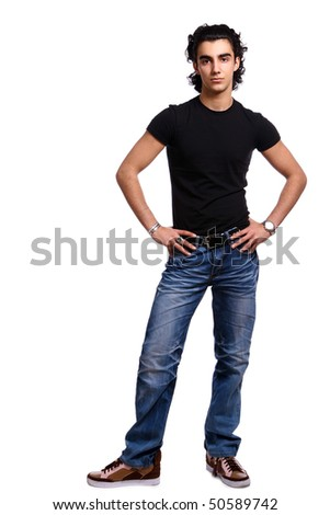 young and attractive latino boy - stock photo