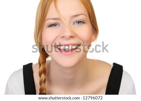 Young and good  looking  woman. Portrait of a beautiful friendly young woman - stock photo