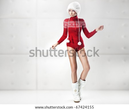 Young and sexy woman posing - stock photo