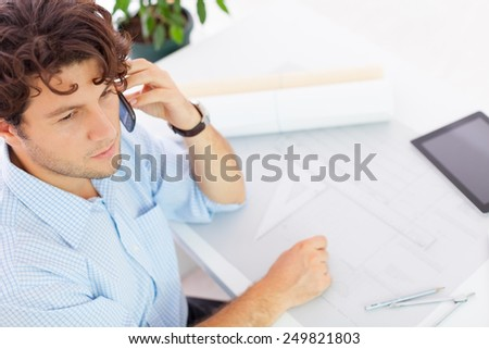 Young Architect - stock photo
