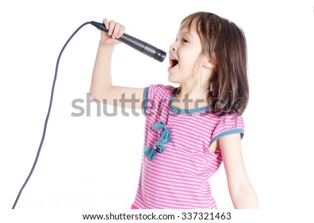 girl singing stock photos images amp pictures shutterstock
