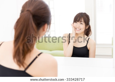 young asian woman beauty image - stock photo