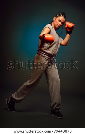 young athletic woman - stock photo