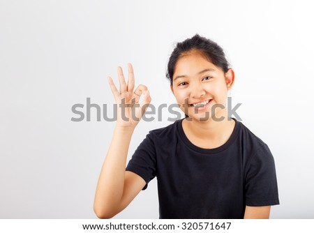 Young attractive asian smile - stock photo