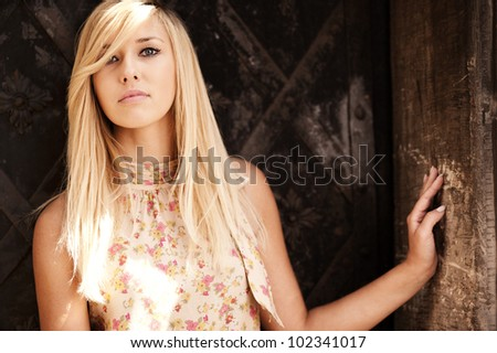 Young attractive blonde - stock photo
