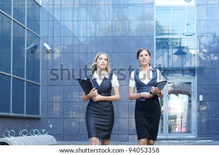 Young attractive business women - stock photo