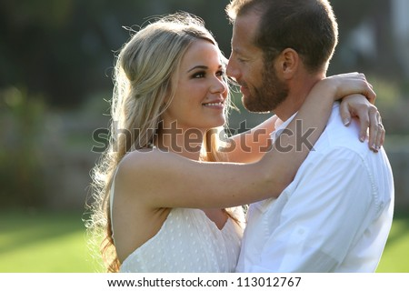 Young attractive couple in love - stock photo