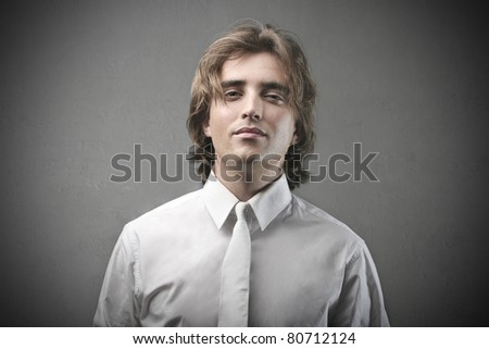 Young attractive man - stock photo