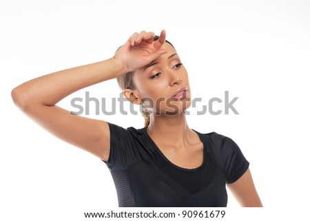 young attractive woman have a break - stock photo