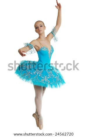 young ballerina - stock photo