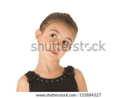 young ballerina looking with a side glance - stock photo
