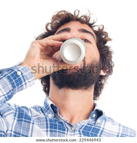 young bearded man - stock photo