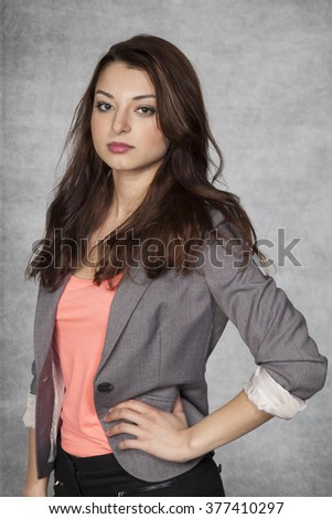 Young beautiful business woman - stock photo