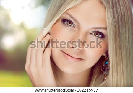 Young beautiful girl - stock photo