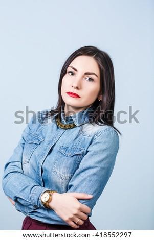 Young beautiful woman upset - stock photo