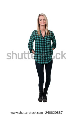 Young Beautiful Woman with a lovely smile - stock photo