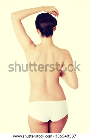 Young beauty nude women back. - stock photo