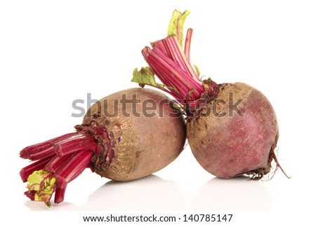 Young beets isolated on white - stock photo