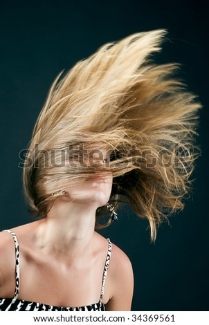 Young blond beauty - stock photo